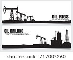 vector oil rig industry... | Shutterstock .eps vector #717002260