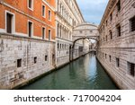 canal towards Bridge of Sighs (Ponte dei Sospiri). Venice, Italy