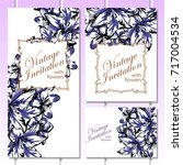 romantic invitation. wedding ... | Shutterstock . vector #717004534