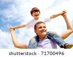 portrait of happy man holding... | Shutterstock . vector #71700496