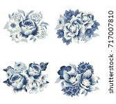 flower set | Shutterstock . vector #717007810