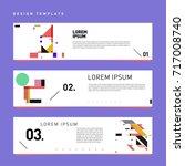vector set of abstract banner... | Shutterstock .eps vector #717008740