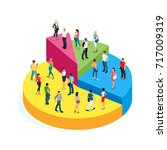 isometric concept of society.... | Shutterstock .eps vector #717009319
