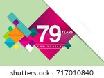 79th years anniversary logo ... | Shutterstock .eps vector #717010840