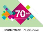 70th years anniversary logo ... | Shutterstock .eps vector #717010963