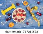 vintage photo  fresh prepared... | Shutterstock . vector #717011578