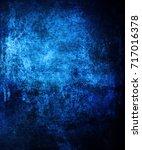Grunge Blue Background.