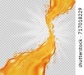 transparent orange liquid... | Shutterstock .eps vector #717018229