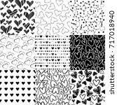 black and white patterns with...   Shutterstock .eps vector #717018940