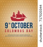 columbus day celebration banner ... | Shutterstock .eps vector #717020344