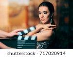 glamorous model starring in... | Shutterstock . vector #717020914