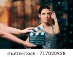 glamorous model starring in...   Shutterstock . vector #717020938