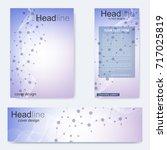 set flyer  brochure size a4... | Shutterstock .eps vector #717025819