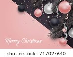 christmas and new year... | Shutterstock .eps vector #717027640