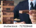 alternative risk concept  plan... | Shutterstock . vector #717028468