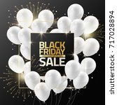 black friday sale on black... | Shutterstock .eps vector #717028894