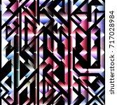 spectrum color geometric... | Shutterstock .eps vector #717028984