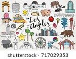 los angeles california... | Shutterstock .eps vector #717029353