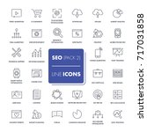 line icons set. seo pack....