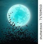 halloween card banner. eps10 | Shutterstock .eps vector #717039010