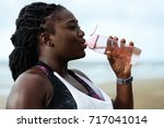 fitness  people and healthy... | Shutterstock . vector #717041014