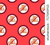 seamless pattern with patches ... | Shutterstock .eps vector #717045910