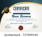 nice and beautiful certificate... | Shutterstock .eps vector #717049144
