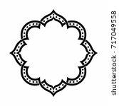 geometric islamic pattern... | Shutterstock .eps vector #717049558
