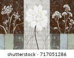 abstract home decorative art... | Shutterstock . vector #717051286