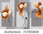 abstract home decorative art... | Shutterstock . vector #717052828