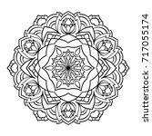 mandala. black and white... | Shutterstock . vector #717055174