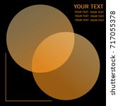 orange circles with overlay of... | Shutterstock .eps vector #717055378