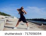 young street beach fitness urban | Shutterstock . vector #717058354