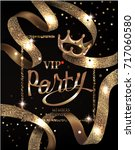 vip party invitation card with... | Shutterstock .eps vector #717060580