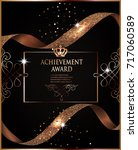 achievement award slip with... | Shutterstock .eps vector #717060589