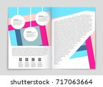 abstract vector layout... | Shutterstock .eps vector #717063664