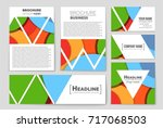 abstract vector layout...   Shutterstock .eps vector #717068503