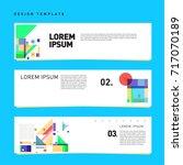 vector set of abstract banner... | Shutterstock .eps vector #717070189
