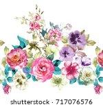 graceful flowers  the leaves... | Shutterstock . vector #717076576