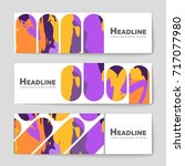 abstract vector layout... | Shutterstock .eps vector #717077980