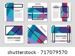 abstract vector layout... | Shutterstock .eps vector #717079570