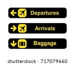 airport sign set   Shutterstock .eps vector #717079660