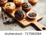 Chocolate Muffin With Chocolat...