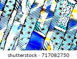 styled diagonal feather stripes ... | Shutterstock . vector #717082750