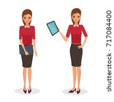 character of business people.... | Shutterstock .eps vector #717084400