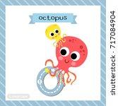 letter o lowercase cute... | Shutterstock .eps vector #717084904