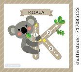 letter k uppercase cute... | Shutterstock .eps vector #717085123