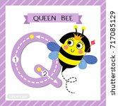 letter q uppercase cute... | Shutterstock .eps vector #717085129