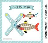 letter x uppercase cute... | Shutterstock .eps vector #717085336