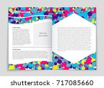 abstract vector layout... | Shutterstock .eps vector #717085660